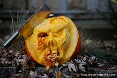 ... labels 2013 halloween pumpkins 2013 pumpkins cool zombie pumpkin