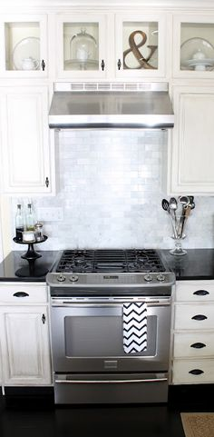 Really want a stainless steel range hood with large backsplash.