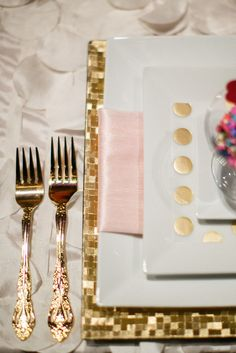 6 - A fun accessory shown in Capsule's Featured Gallery   Beautiful Gold Silverware  #trycapsule and #wedding