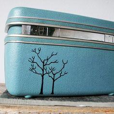 Vintage train case.