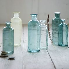 recycled glass, glasses, home accessories, blue, jar