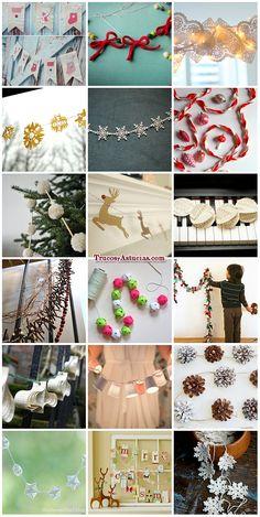 Navidad on pinterest navidad manualidades and christmas - Guirnaldas navidad manualidades ...