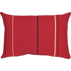 "Sunbrella® Red Tonal Stripe 20""x13"" Outdoor Pillow in 30% off Outdoor Pillows 