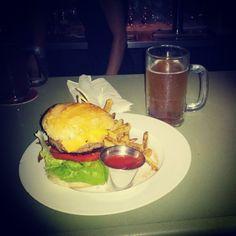 #Kobe #burger, featuring tangerine dreams - @ruben_i- #webstagram #LousBeerGarden #MiamiBeach #Miami #NormandyBeach