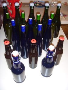 Cider batch #2 has been bottled. Primarily apple, with peach, grape, cherry, and pomegranate.