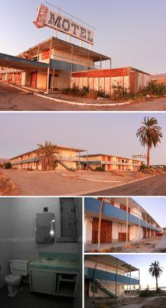 abandoned north shore motel, salton sea, california.
