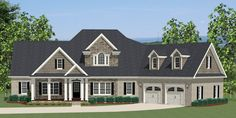 Colonial House Plan with 2549 Square Feet and 3 Bedrooms from Dream Home Source | House Plan Code DHSW076763 hous design, floor plan, hous plan, coloni hous, bedroom upstair, house plans