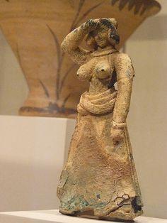 Bronze female figure Cretan Late Minoan I 1600-1450 BCE