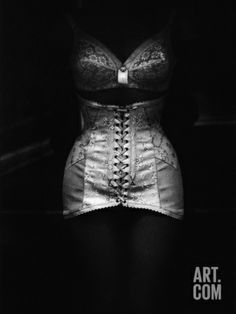 Vintage Poster to add to a lingerie window display Brassiere and Embroidered Corset Photographic Print by Ben Dray at Art.com