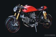 Ducati Sport 1000 commissioned by Louis, Europe's largest moto retailer, for its 75th anniversary from builder Marcus Walz. Many one-off parts as well as many of Louis's own products were used.  Louis polled its customers on Facebook for many of the bikes ideas, I think they did a damn good job.