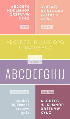 favorite web fonts - breanna rose