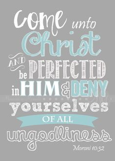 Come Unto Christ, grey and teal