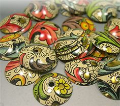 Donna Millard makes these gorgeous Bead Caps from vintage tins. Love em!