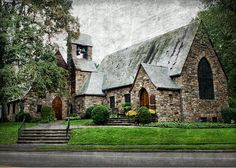 union church of pocantico hills, ny - Who would guess that this unassuming country church contains a stained glass window by Henri Matisse, his last work of art, and nine windows by Marc Chagall?  It is stunning! window, countri church, union church, country churches