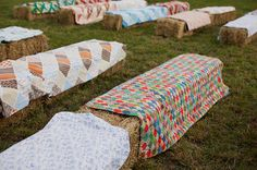 Hay bales....for any kind of gathering outdoors