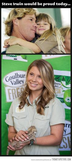 Bindi Irwin, she's 14 now…so pretty