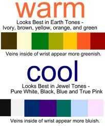 Skin Tone Chart-Good info. on determining your skin tone and what colors look best on you!!