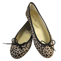 London Sole leopard ballet flats
