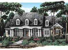 Love this! Colonial House Plan with 2745 Square Feet and 3 Bedrooms from Dream Home Source | House Plan Code DHSW38698 idea, houses, floor plan, dream homes, hous plan, coloni hous, design, front porches, house plans