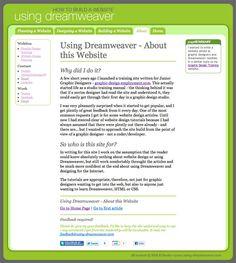How to to plan, design and build a website Using Dreamweaver Tutorials web design, dreamweav tutori