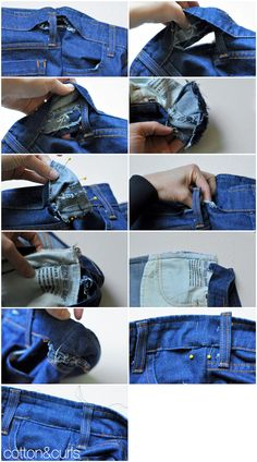 The more professional way to take in a the waistband and legs tutorial