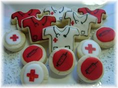Nurse/Doctor/Medical Cookie Collection 3 by YadkinValleyCookies, $18.50  For my nursing school grad party!