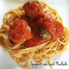 Spaghetti and Lentil Meatballs #MeatlessMonday