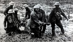 First World War soldiers trudge their way through mud at Ypres