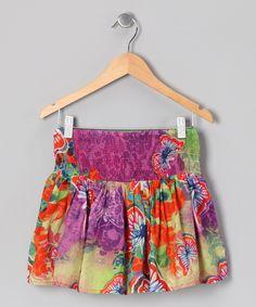 #zulily #fall Purple Butterfly Skirt - Girls