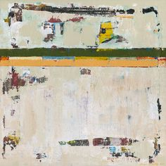 """Chariot is a white 30x30"""" modern painting by Shawn McNulty. ©2010"""