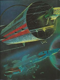 Spacecraft: In Fact and Fiction, by Harry Harrison and Malcolm Edwards. Back art by Chris Foss.