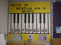 Bulletin Board - Great way to tie reading into music and quite simple to create.