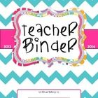***updated to include July calendar and spine inserts***  This Teacher Binder FREEBIE includes 2013-2014 monthly calendars and colorful divider sec...