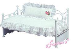 2 pc White Eyelet Comforter & Pillow Set Fits American Girl Dolls