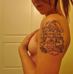 R2D2 - 'You're my only hope' Tattoo.