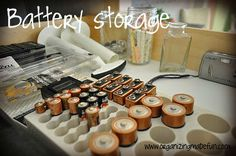 Battery organizing