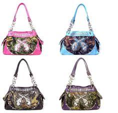 gun purs, cross camo purses