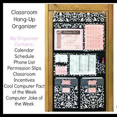 Great ideas for using the Hang-Ups Home Organizer in your classroom! Www.mythirtyone.c...
