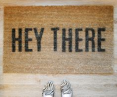 DIY Hey There Doormat
