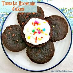 Tomato Brownie Cakes by Sprint 2 the Table