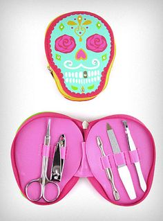 Sweet Sugar Skull Manicure Kit $14.00 (available in 3 different colors/styles)