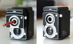 pencil sharpen, camera vintag, vintage cameras, offic product, desks