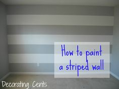 Painting A Striped Wall in the nursery