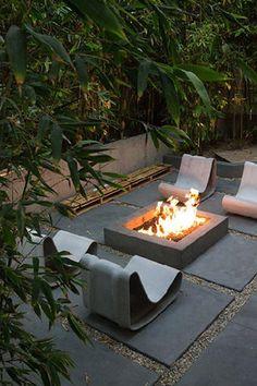 Fire-pit & cement