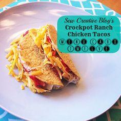 Crockpot Ranch Chicken Taco Recipe