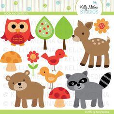 cute forest animal digi art
