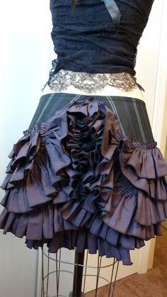 ruffle skirt back
