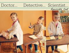 Calling All Kids - Doctor... Detective... Scientist... Reversible Coat