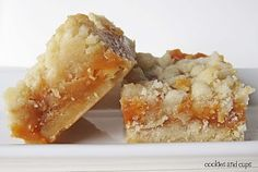 I just made these - Salted Caramet Butter Bars!  And they are soooooo good!