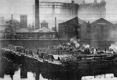 "Caption: ""Regents Canal Dock, Limehouse, London"" #Regents #Canal # London #Boat #lighter #barge #dock #east #limehouse #docklands #historic #narrowboat"